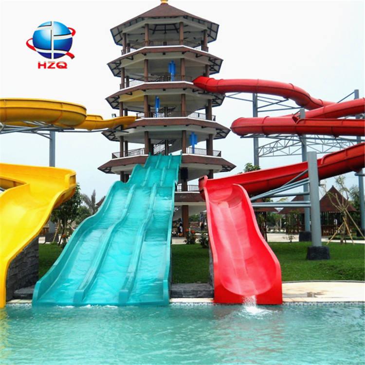 Hot in unterhaltungsplatz wasserrutschen für hafenanlagen fabrik in china + spirale öffnen slide