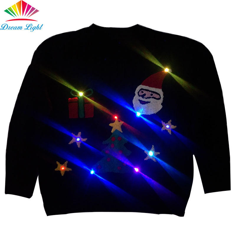 Лидер продаж пуловер вязаный свет Рождественский свитер для вечеринки