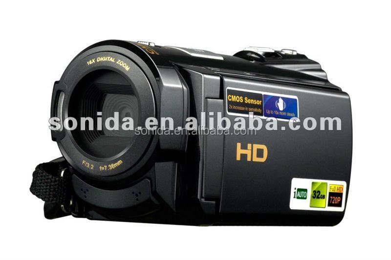hd كاميرا فيديو عالية الوضوح hdv-502pt 1080p أفلام الفيديو 16x 5mp مستشعر cmos تقريب رقمي