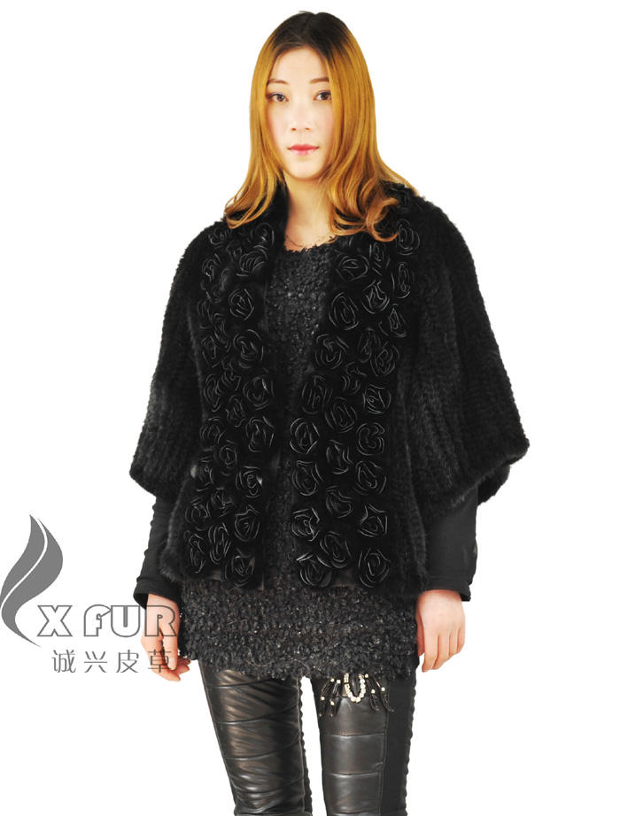 Cx-g-a-14a 2014 vendita calda <span class=keywords><strong>nero</strong></span> vera giacca di pelliccia di <span class=keywords><strong>visone</strong></span> per le donne