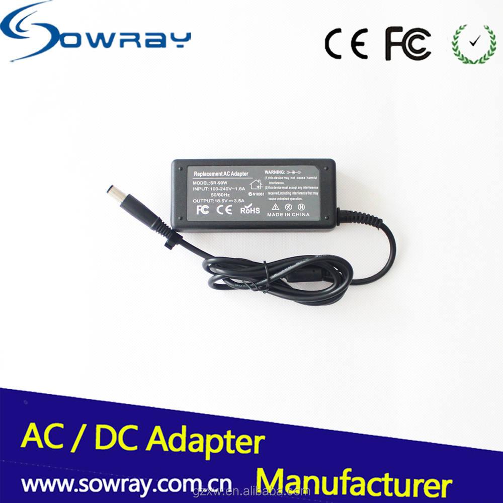 Universal 65 W AC DC adaptador de corriente de entrada 100 240 V AC 50/60Hz cargador portátil 18.5 V 3.5a para <span class=keywords><strong>HP</strong></span>