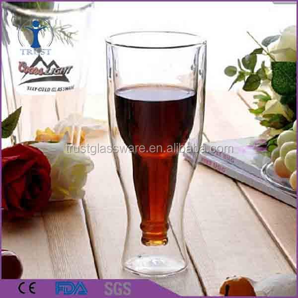 Beaucoup de Main Creative Double Mur Tasse Résistant à La Chaleur à double paroi en verre de bière