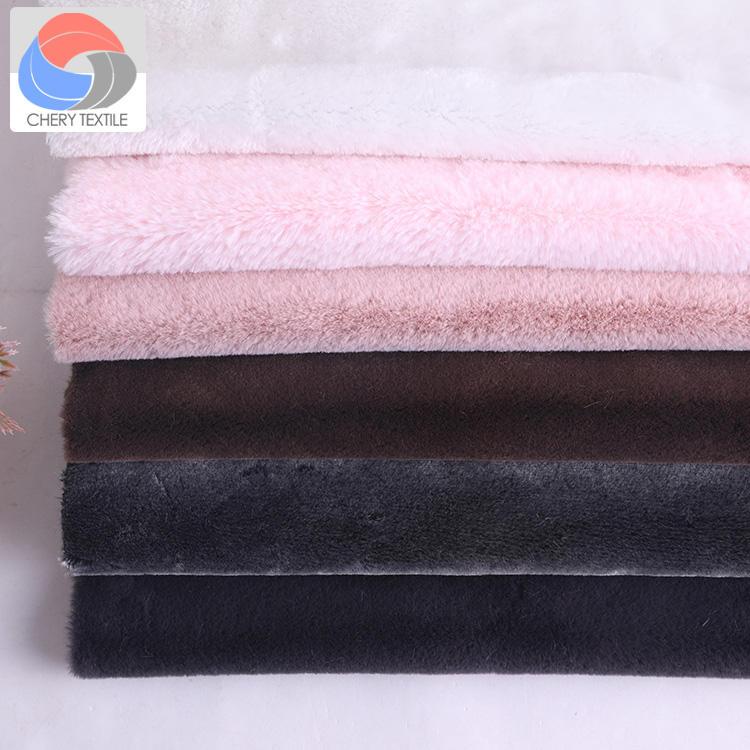 2018 piel del conejo del Faux de la alta calidad para la materia textil casera