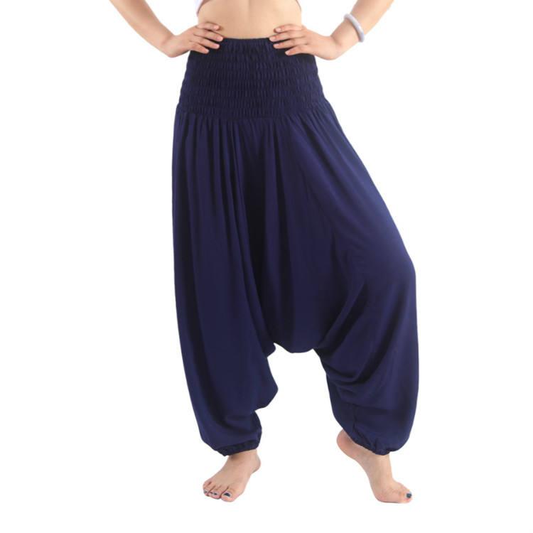 Estampados de moda dama India rayón yoga pantalones de harén de las mujeres