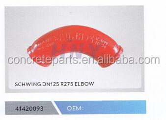 Rosso stile schwing 90 gradi dn125 r275 gomito per camion pompa per calcestruzzo pezzi di ricambio
