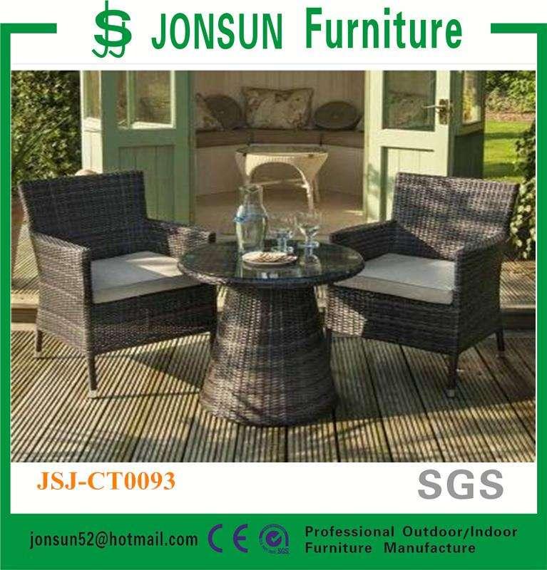 2016 Nuevo diseño de mimbre al aire libre mesa con sillas <span class=keywords><strong>Ratan</strong></span> muebles de jardín