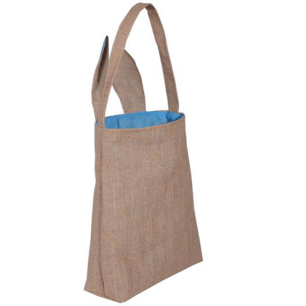 Newest 부활절 Bunny 귀 핸드백 면 Linen Gift 포장 Tote Bag