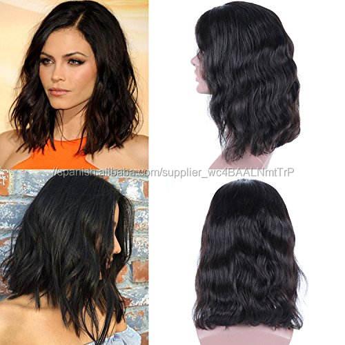 Afroamericano corto naturales <span class=keywords><strong>pelucas</strong></span> del cordón del pelo humano para las mujeres