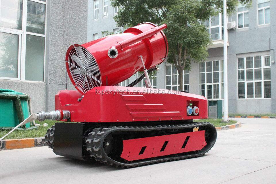 Пожаротушения дым обнаружения робот