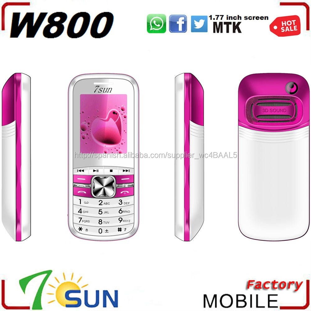 2015 celular teléfono W800 Whatsapp Doble tarjeta Sim 7 Dias Bateria