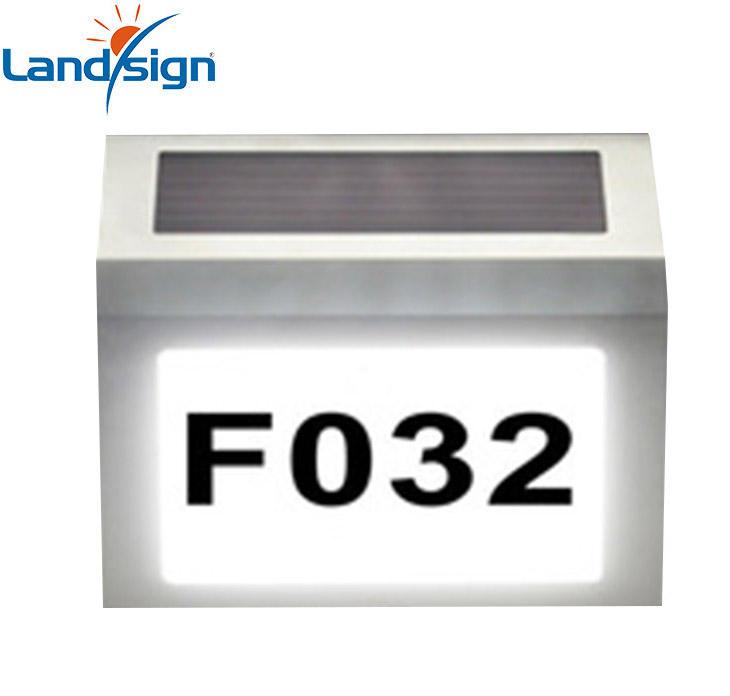 Цыси новый продвижение дом Адрес Номер Свет XLTD-910 Солнечной Энергии Из Нержавеющей Стали LED Doorplate Свет