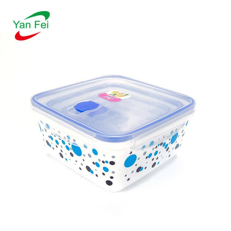Taşınabilir Mini Bento Plastik Taze Gıda Saklama Kutuları Mühürlü Kutuları 1 l plastik gıda saklama