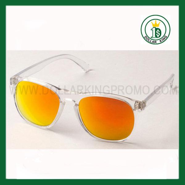color espejo gafas <span class=keywords><strong>De</strong></span> plástico personalizada Promocional <span class=keywords><strong>lente</strong></span> del espejo <span class=keywords><strong>de</strong></span> naranja Wayfarer Gafas Sol