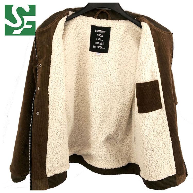 Фабрика прямые оптовые моды шерсть ягненка мальчиков Вельветовая куртка