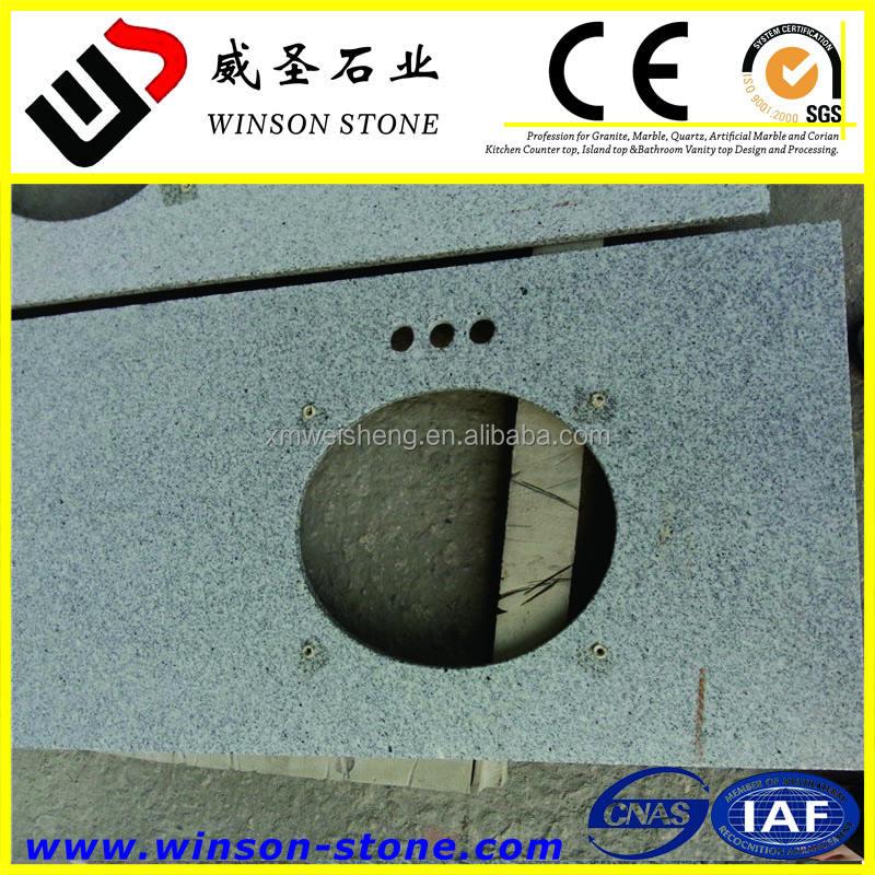 3 grifos de cocina encimeras de granito de color gris claro, encimera de granito blanco chino Piel buenos precios