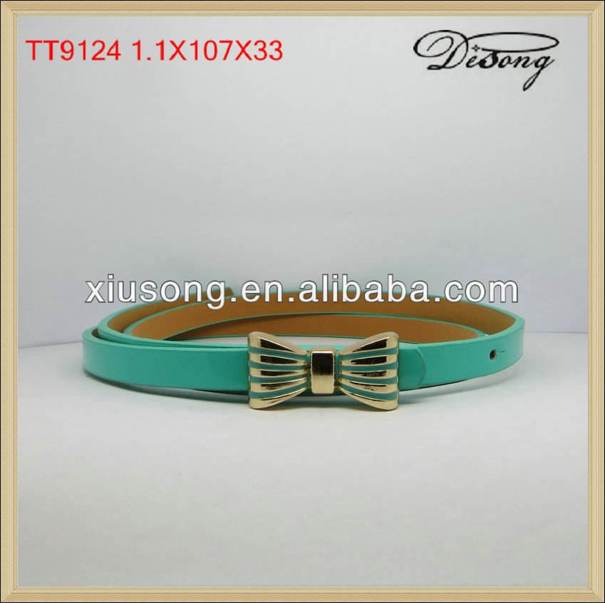 nuevo tt9124 verde con <span class=keywords><strong>bowknot</strong></span> decorado cinturón de señoras correa de las mujeres