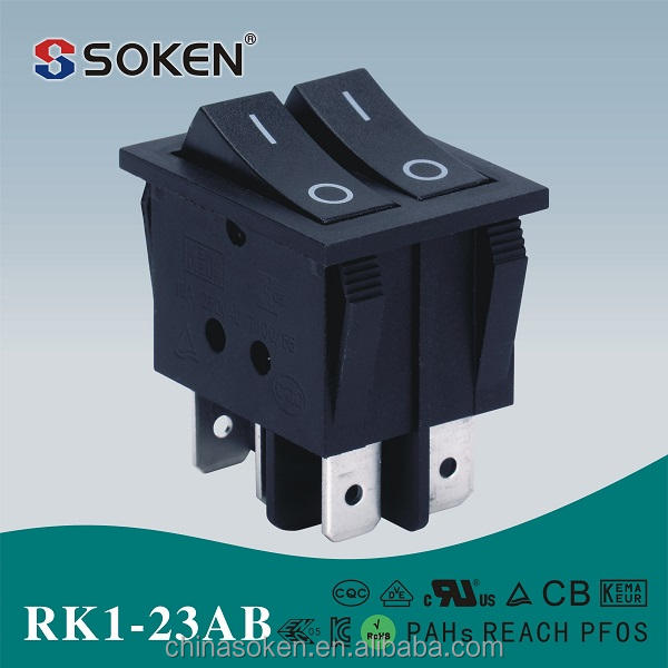 Soken <span class=keywords><strong>oem</strong></span> 2 vị trí biển <span class=keywords><strong>rocker</strong></span> switch t85 rk1-23ab