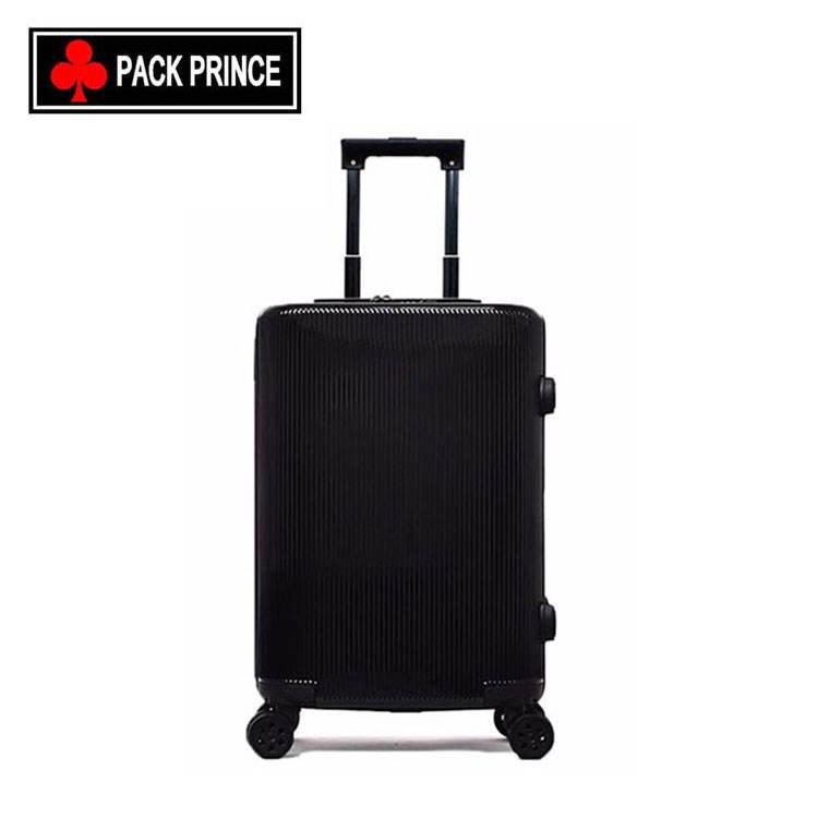 Top fournisseur en gros 4 roues zipper voyage valise chariot bagages abs