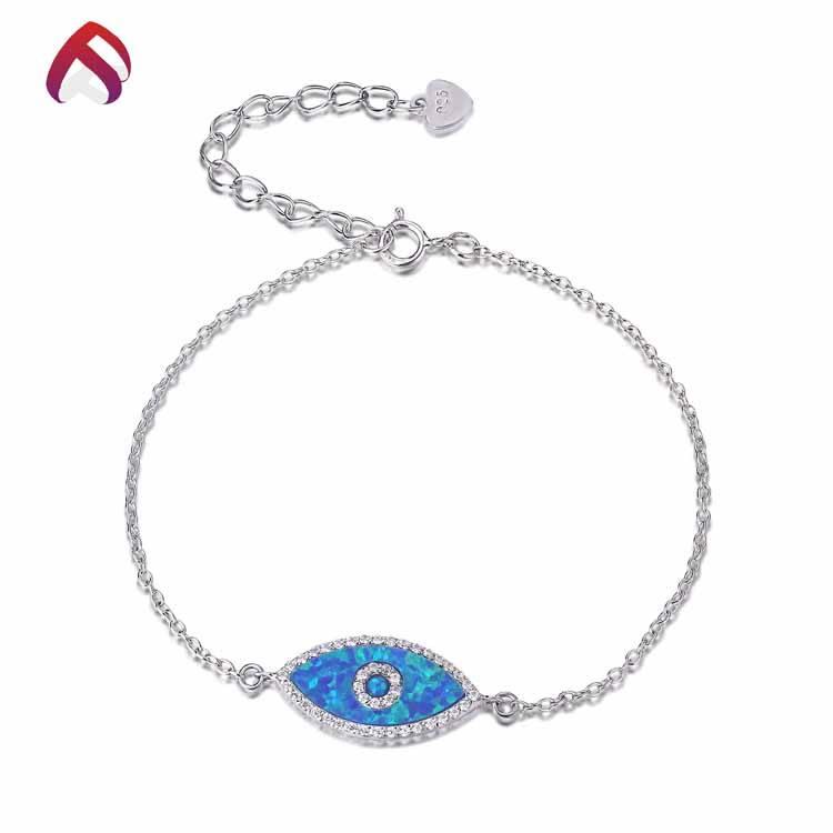 Direto da fábrica de jóias de opala opala clássico pulseira olho do mal
