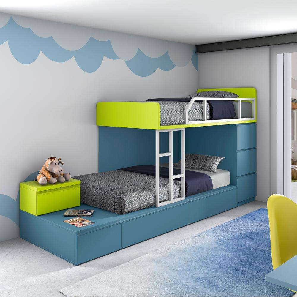 Custom Diy Kinderen <span class=keywords><strong>Bed</strong></span> Set Houten Kids Stapelbed