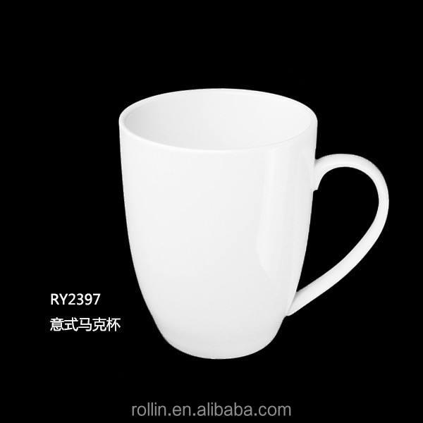 أبيض اللون الترويجية القهوة <span class=keywords><strong>السيراميك</strong></span> القدح الخزف القدح كبير المتضخم كبير