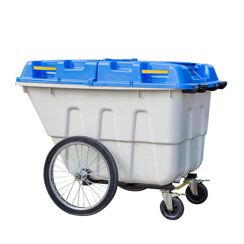 400 litres poubelle de déchets en plein air bin avec métal pédale et quatre roues
