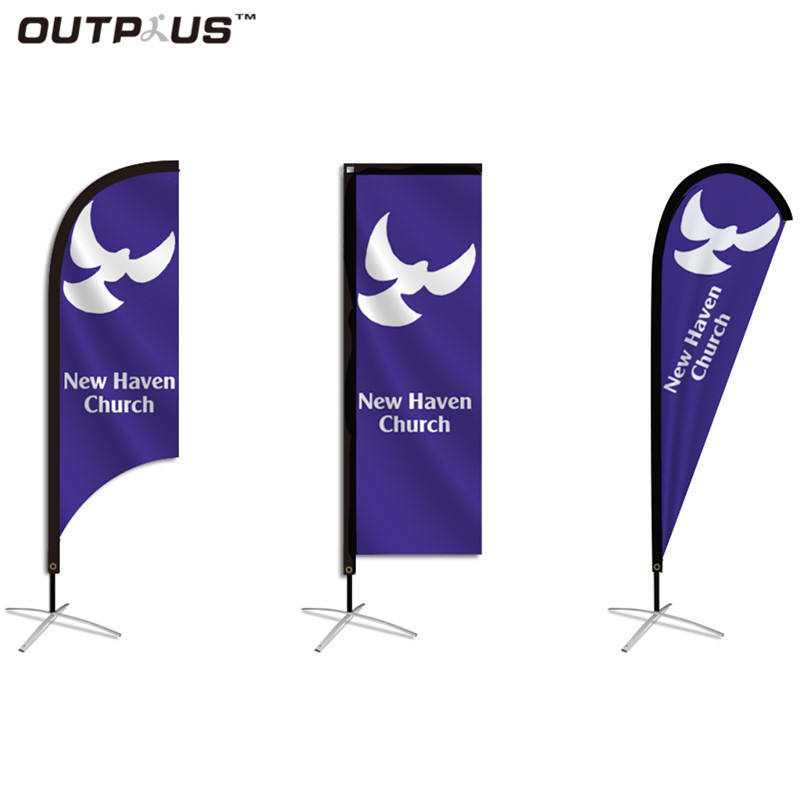 En gros conception personnalisée en plein air bannière de plume 2.8 m <span class=keywords><strong>beachflag</strong></span>