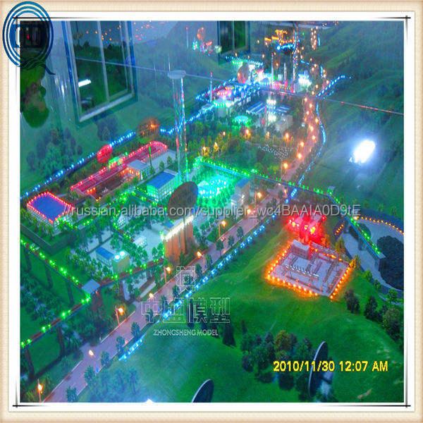 Городской delopment шкала модель / городское планирование шкала модель / миниатюрный город план модель