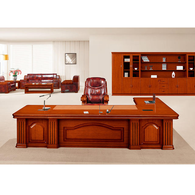 Top quality office furniture HY-D5036 Teak wood ceo office executive table