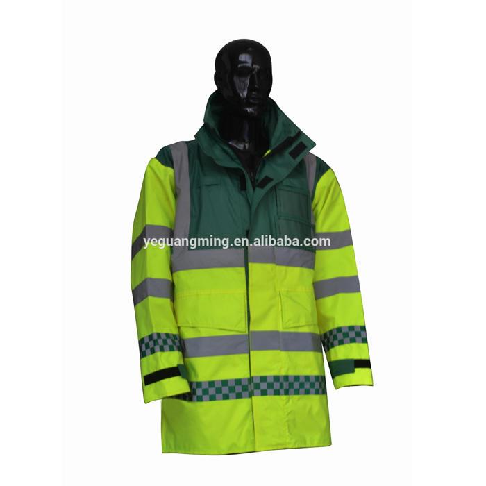 Высокая видимость плащ светоотражающие куртка EN471