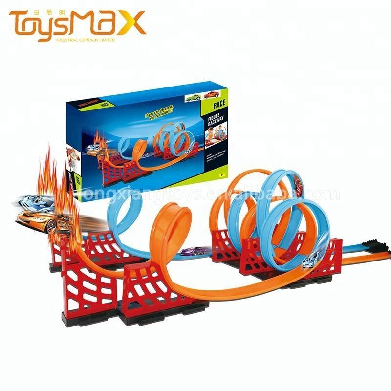 Toysmax Lắp Ráp Kéo Trở Lại <span class=keywords><strong>Xe</strong></span> <span class=keywords><strong>Hot</strong></span> Wheels Ma Thuật Đua Theo Dõi Cho Trẻ Em