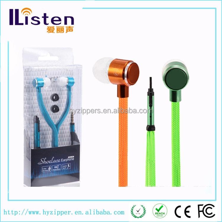 2015 novo item presente no ouvido fone de ouvido à prova d'água cadarço para MP3 / MP4 / telefone móvel