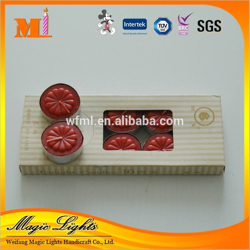 Box- imballato candele del <span class=keywords><strong>tealight</strong></span> rosso in tazze in <span class=keywords><strong>alluminio</strong></span>