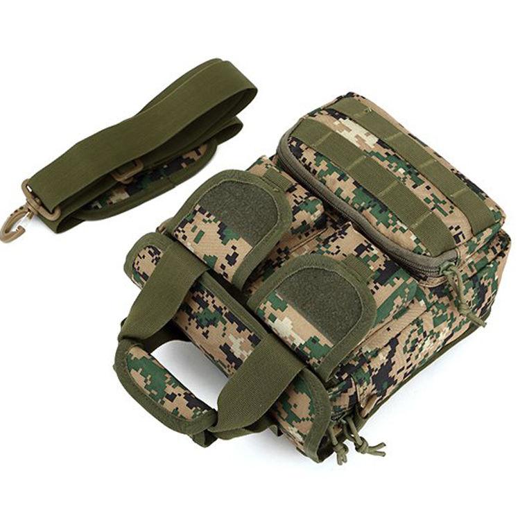 En gros hommes en plein air escalade militaire tactique épaule unique camouflage sac de messager