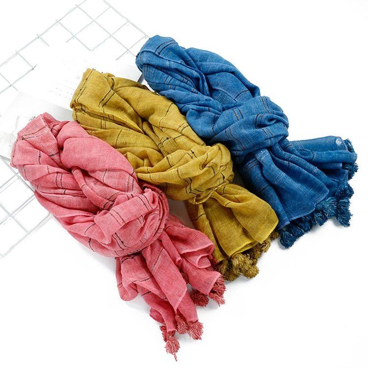 De alta calidad de muestra gratis de tinte de corbata-de tejido de gasa de algodón de bufanda interna