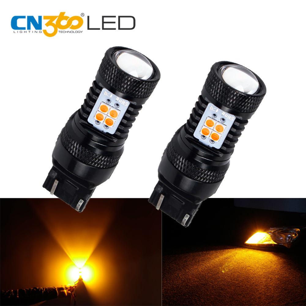 Super Bright Amber 7443 T20 lâmpadas LED com substituição de projetor para luzes de sinal de giro