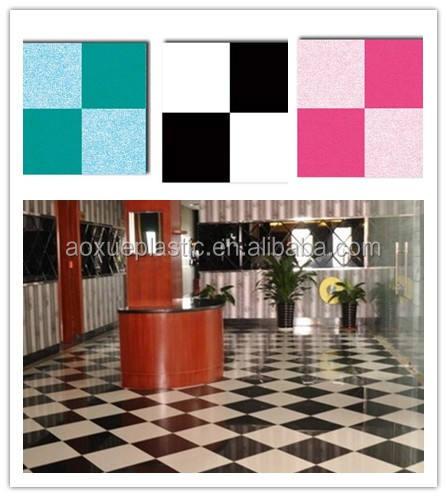 Nero spunta bianco design bianco feltro supporto PVC/pavimenti in vinile