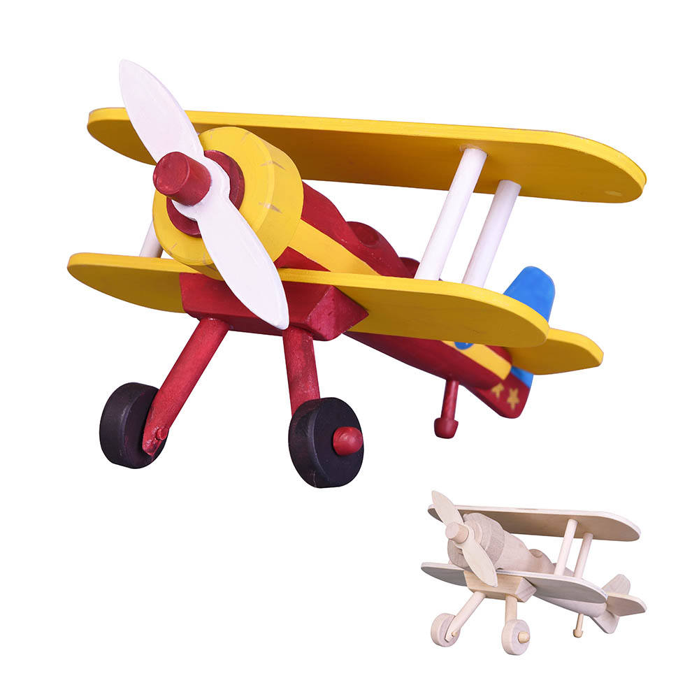 Construire-et-peinture Biplan <span class=keywords><strong>en</strong></span> <span class=keywords><strong>bois</strong></span> drôle et jouets éducatifs pour les enfants DIY avion artisanat <span class=keywords><strong>en</strong></span> <span class=keywords><strong>bois</strong></span> jouet avion <span class=keywords><strong>hélice</strong></span>
