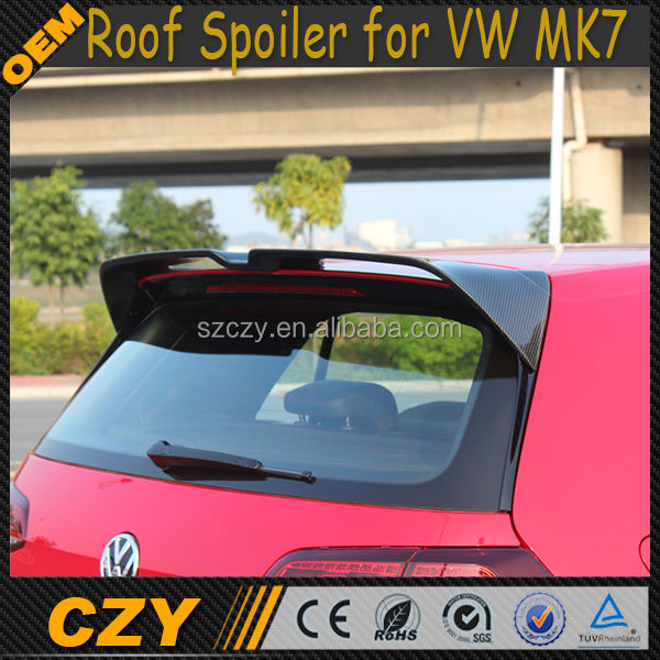 Fibra de carbono MK7 Coche Spoiler de Techo para VW MK7 GTI 2014Ups