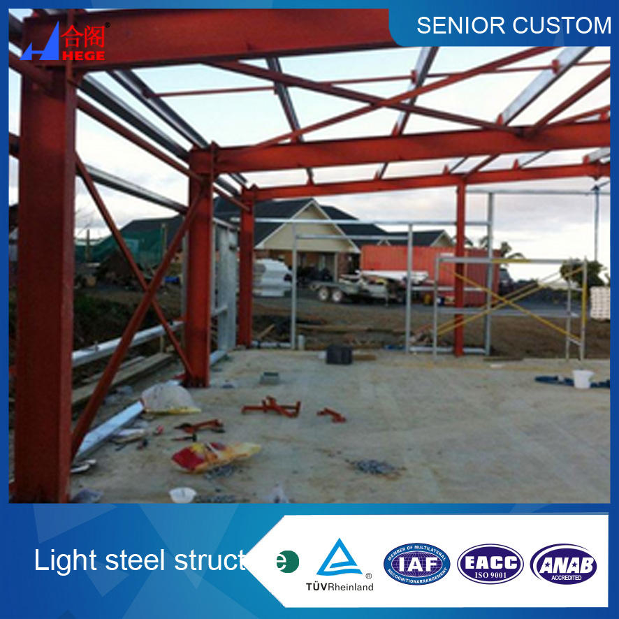 Popular prefabricado creíble construcción de la estructura de acero ligero y fábrica