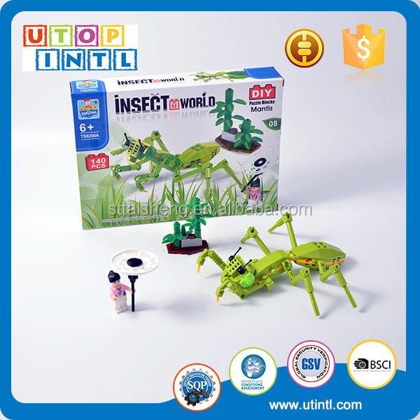Insect World Cogida de La Muchacha Juegos Mantis Plástico ABS <span class=keywords><strong>Bloques</strong></span> de Construcción de Juguete