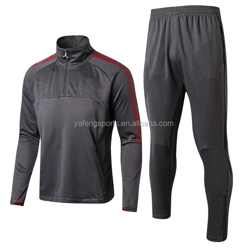 Новый дизайн спортивной одежды пустой Джерси футбол равномерное пользовательские футбол одежда Длинные рукава Высокая декольте