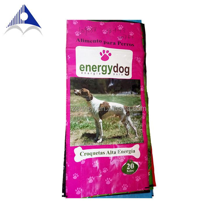 Pp woven животных пластиковый мешок корма для собак 25 кг