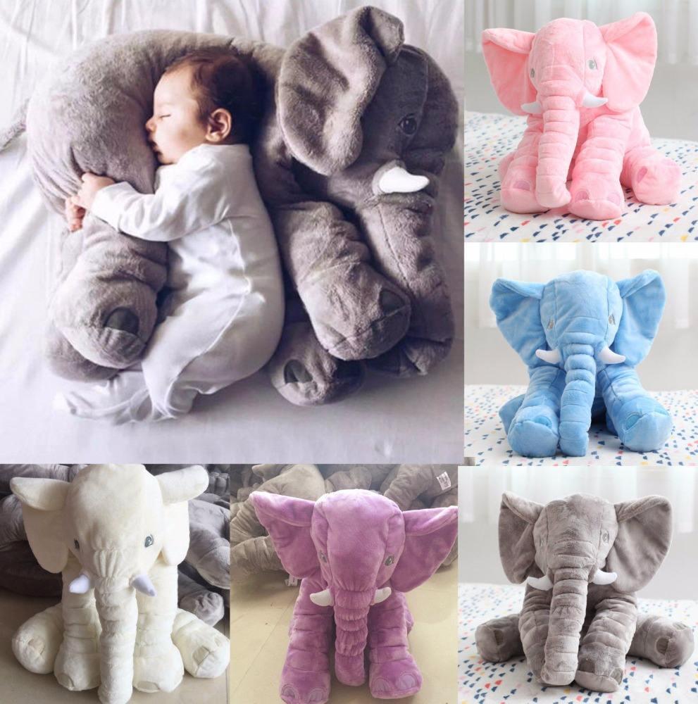 Большой длинный нос слона сна подушка детские плюшевые игрушки поясничного слон подушка кукла 50*60 см
