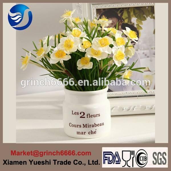 ديكور المنزل زهرية خزفية لالتسامي القدح، إناء الزهور السيراميك مع التصميم الحديث