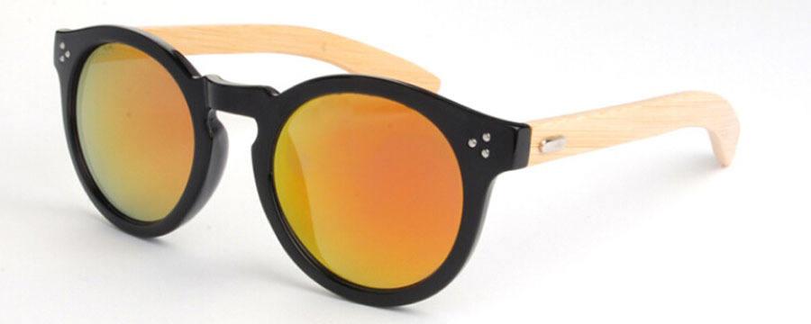 ابن السبيل النظارات الشمسية المستقطبة الخيزران صديقة للبيئة، صيف بارد نظارات الخيزران والخشب، الخيزران ابن السبيل النظارات الشمس