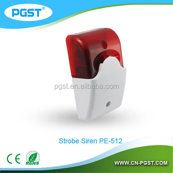 Pe-512 электронные сирены пожарной сигнализации сирена с проблесковым маячком для система интеллектуального дома