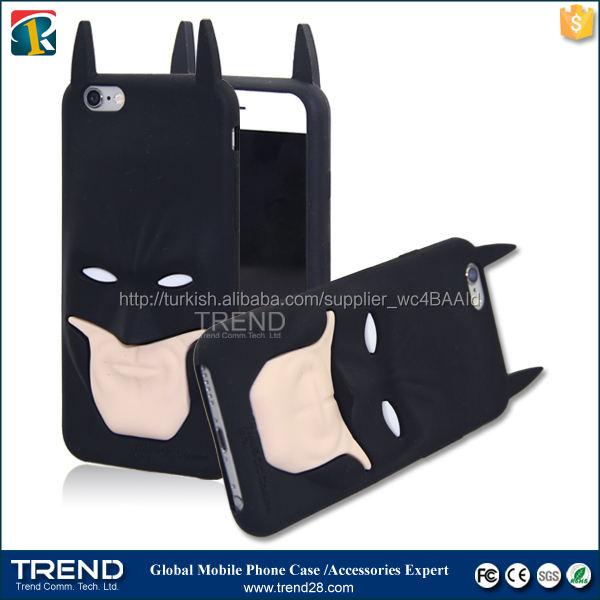 batman için silikon telefon kılıfı iphone 6 6s