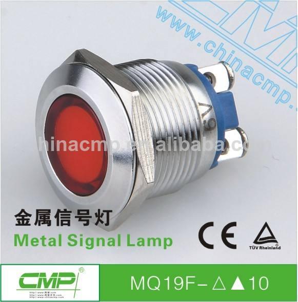 diámetro de la rosca 19mm acero inoxidable 24 voltios luces led indicador ip67