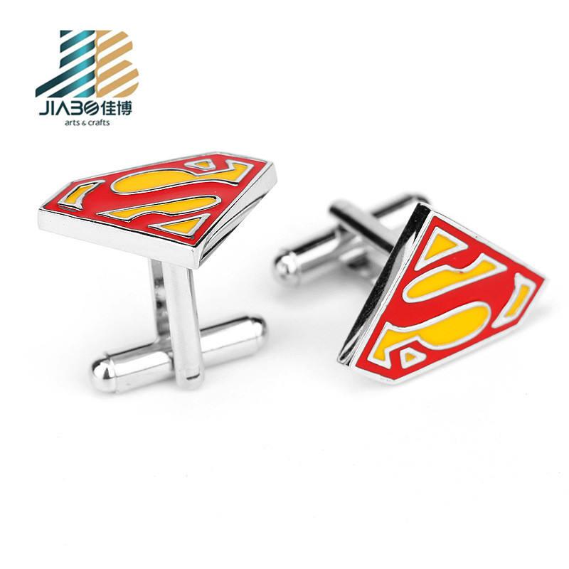 Kaynağı fabrika İhtisas süper kahraman kol düğmeleri oem döküm gömlek kol düğmeleri erkekler için